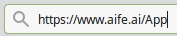 Part of a URL bar of a browser