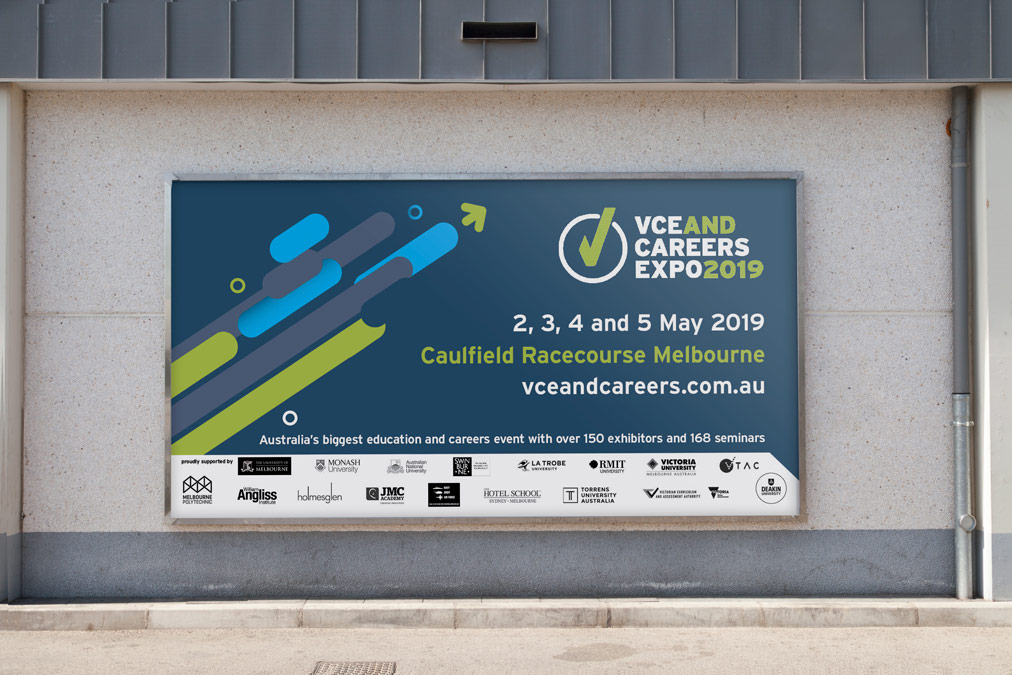 VCE AND CAREERS EXPO 2019 Billboard Design