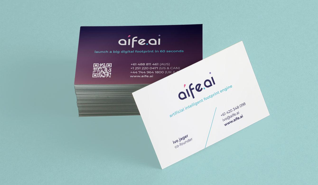 aife.ai business card mock up