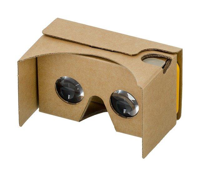 A Google Cardboard device