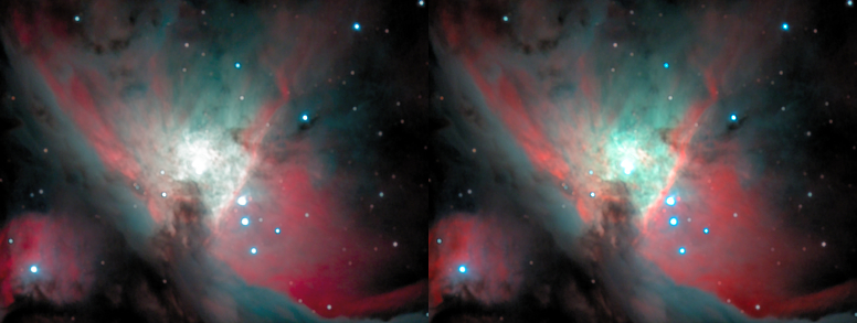 M42's core side-by-side