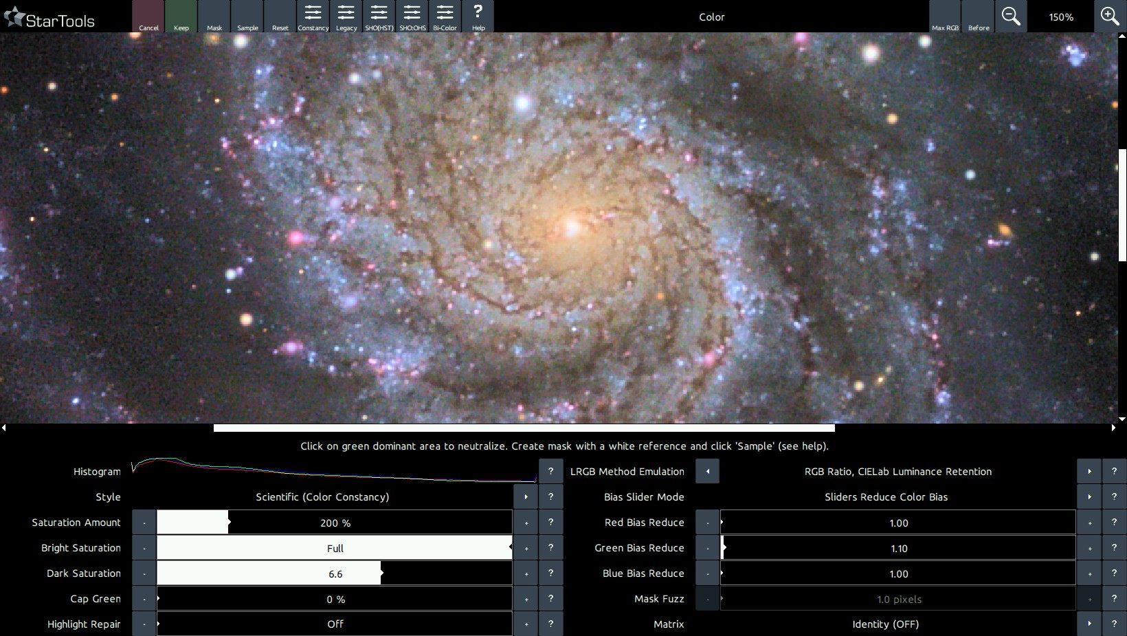 A color balanced M101.