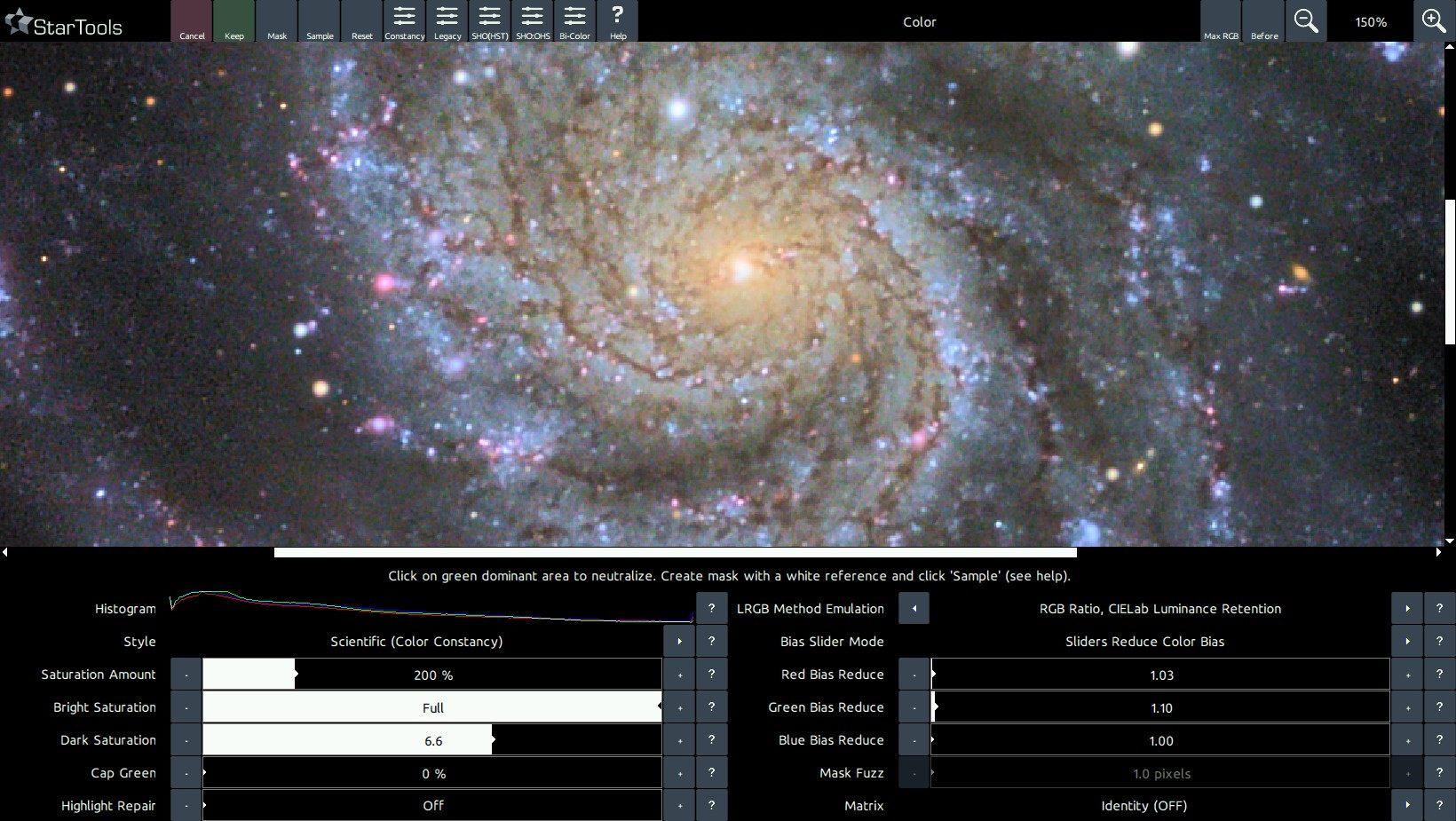 A colour balanced M101.
