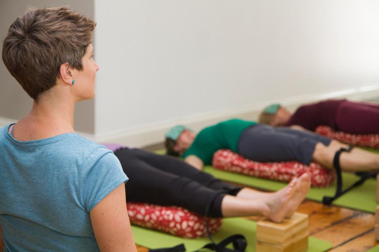 restorative resting gentle yoga practice